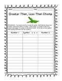 Daily 3 math- Greater Than, Less Than Chomp