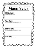 Daily 3 math by self- place value