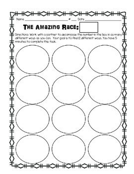 Daily 3 math game- The Amazing Race