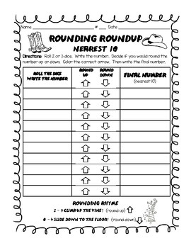 Daily 3 math game- rounding roundup