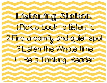 Daily 3 or 5 Literacy Stations/Center Directions