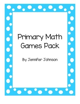 Daily 3 primary math games bundle