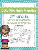 Daily 3rd Grade Math FSA Practice Morning Work