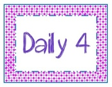 Daily 4 Signs