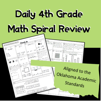 Daily 4th Grade Spiral Review *School License* Aligned to the OAS