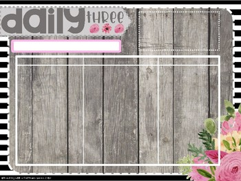 Daily 5 & 3 EDITABLE Templates with Timers - Floral Theme