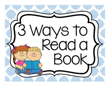 Daily 5-3 Ways to Read a Book Posters