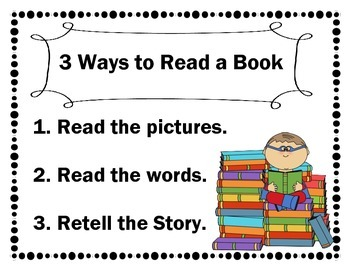 Daily 5 3 Ways to Read a Book Superhero