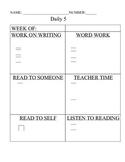 Daily 5 Accountability Sheet