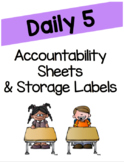 Daily 5 Accountability Sheets and Supply Labels