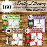 Reading, Writing, Word Work Station Activities August-Dec Mini-Bundle Part 1