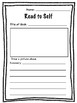 Literacy Centres - Silent Reading Response Worksheets