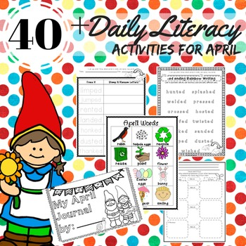 Literacy Center Activities Word Work Spelling Writing Prompts April