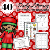 Reading, Writing, Word Work Station Activities for December