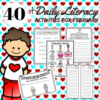 LITERACY Center Activities, WORD WORK SPELLING Reading Stations for February