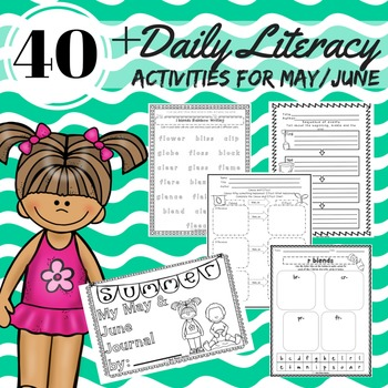 Literacy Block Activities for May/June Reading, Writing, Word Work