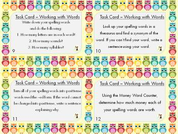 Literacy Center Activity Bundle with Task Cards