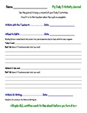 Daily 5 Activity Journal (log)