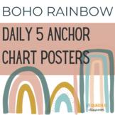 Daily 5 Anchor Chart Posters: BOHO RAINBOW