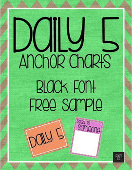Daily 5 Anchor Charts Freebie