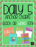 Daily 5 Anchor Charts - Rainbow Burlap