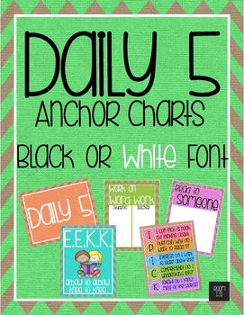 Daily 5 Anchor Charts - Rainbow Burlap