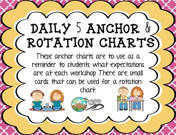Daily 5 Anchor Charts & Rotations