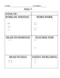 Daily 5 Assignment Sheet