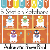 Automatic Center Rotations PowerPoint for Daily 5