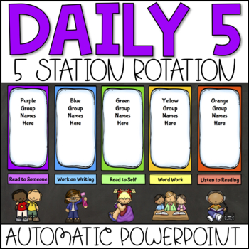 Center Rotation Automatic PowerPoint For Daily 5