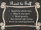 Daily 5 Behaviors Anchor Charts/Signs/Posters (Black Chalk