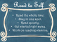 Daily 5 Behaviors Anchor Charts/Signs/Posters (Blue Chalkboard/Curly Frames)
