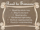Daily 5 Behaviors Anchor Charts/Signs/Posters (Brown Chalk