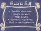 Daily 5 Behaviors Anchor Charts/Signs/Posters (Navy Chalkboard/Curly Frames)