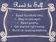 Daily 5 Behaviors Anchor Charts/Signs/Posters (Navy Chalkb