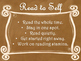 Daily 5 Behaviors Anchor Charts/Signs/Posters (Ombre Chalkboard/Curly Frames)