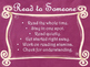 Daily 5 Behaviors Anchor Charts/Signs/Posters (Pink Chalkboard/Curly Frames)