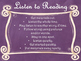 Daily 5 Behaviors Anchor Charts/Signs/Posters (Purple Chalkboard/Curly Frames)