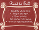 Daily 5 Behaviors Anchor Charts/Signs/Posters (Red Chalkbo