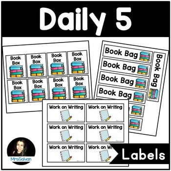 Daily 5 Read to Self and Work on Writing Labels