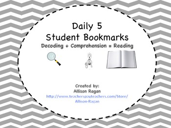Daily 5 Bookmark