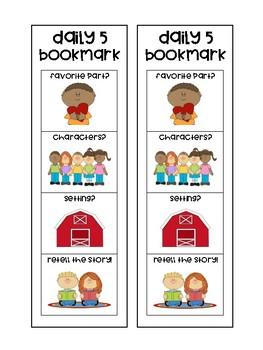 Daily 5 Bookmark