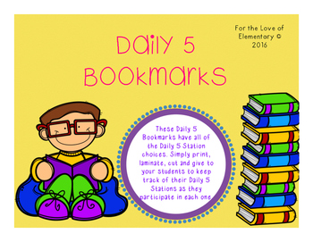 Daily 5 Bookmarks