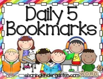 Daily 5 Bookmarks FREEBIE