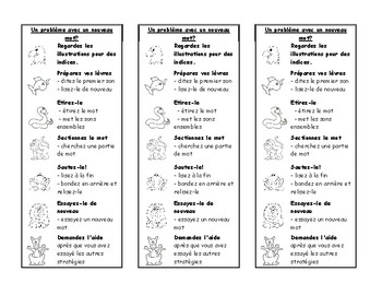 Daily 5 Bookmarks (Includes a French version and an English version)