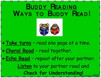 Daily 5 - Buddy Reading Poster