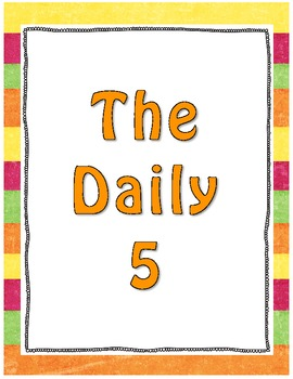Daily 5 Bulletin Board Poster Set – High Quality Graphics