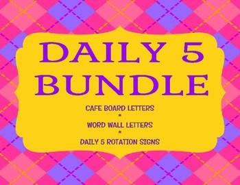 Daily 5 Bulletin Board Printables