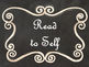 Daily 5 Bulletin Board Signs/Posters (Black Chalkboard/Curly Frames Theme)
