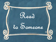 Daily 5 Bulletin Board Signs/Posters (Blue Chalkboard/Curly Frames Theme)